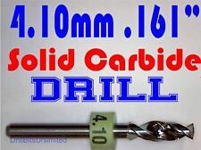 ".161"" 4.10mm  -Solid Carbide Drill Bit - 1/8"" Shank -Sharp! CNC Hobby Model -lu"