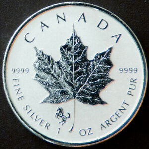 Canada $5 Maple Leaf Bullion Series 2014 Year of the Horse Privy Mark #190101