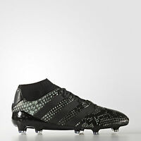 adidas Ace 16.1 Primeknit FG Mens Football Sock Boots Firm Ground Black ALL Size