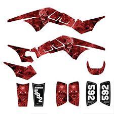 TRX250R Graphics TRX 250R 250 R racing decal sticker kit #9500 Red Zombie Skull