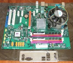 ECS P45T-A2R motherboard with Intel Core 2 QUAD Q6600 2.4GHz CPU & 4Gb Ram