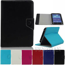 "For 7"" 8"" 9.6"" 9.7"" 10.1"" Inch Android Tablet Universal Leather Folio Case Cover"