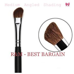 R&M MEDIUM ANGLED EYE SHADING Eyeshadow Blending BRUSH MAKEUP TOOL NATURAL HAIR