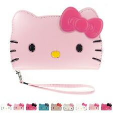 HELLO KITTY Face Flip Wallet Cover Galaxy S20 Ultra S10 Plus S9 S8 Note20 Case