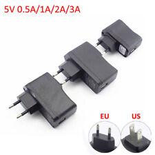 AC DC 5V 0.5A/1A/2A/3A Power Supply Adapter Wall USB Port LED Strip Lights phone