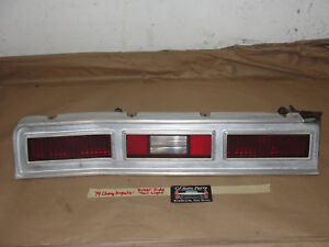 OEM 74 Chevy Impala LEFT DRIVER SIDE TAIL LIGHT LENS BEZEL TRIM