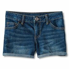 Cherokee Girl's Rolled Cuff Denim Jean Shorts Adjustable Waist Size: Small, 6/6X