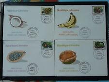 fruits food set of 4 FDC Gabon 79628