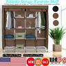 "67"" 4/3 Layer Portable Closet Storage Organizer Wardrobe Clothes Rack W/Shelves"