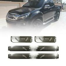 For Isuzu D-max Dmax 2012-2014 Chrome Scuff Plate Sill Door Step With Blue LED