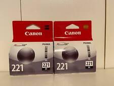 New Genuine Canon CLI-221 Black 2PK Ink Cartridges PIXMA MX860 MX870