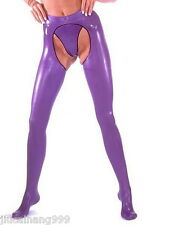 100% Real Latex Rubber Rubber Pants Pants Jeans Shorts Catsuit Catsuit Costume