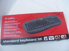 Genuine LABTEC Wired PS/2 keyboard Tastatur Nordic Norsk 967424-0108 Black