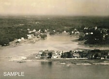 1930s Cape Porpoise Maine Langsford House Aerial View Paddy's Cove