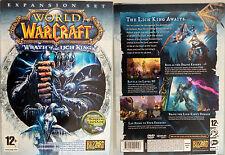 Expansión set World of Warcraft Wrath of the mente King mundo de guerra juego ov