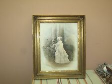 Antique Signed Portrait Painting on Porcelain Victorian E.D. Grafton 10x13-14x17