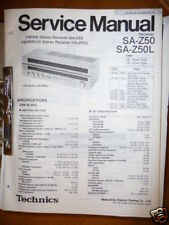 Service Manual Technics SA-Z50/Z50L Receiver,ORIGINAL