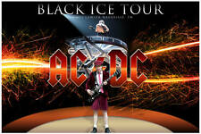 ACDC BLACK ICE TOUR NASHVILLE TN RARE PROMO POSTER
