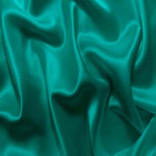 "25 Yards 60"" Teal Charmeuse Shiny Bridal Satin Fabric"
