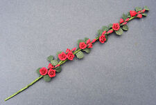 1:12 Scale 22cm Strip Of Red Roses Tumdee Dolls House Flower Garden Accessory