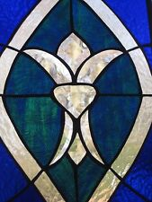 Regal Refreshing stained glass panel window  OOAK  newly created