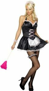 *** SALE *** FANCY DRESS COSTUME # LADIES SEXY FEVER FRENCH MAID SIZES 8-18
