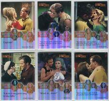 Star Trek Tos Quotable Captain's Femmes Chase Carte Ensemble (W1-W6)