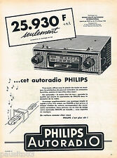 PUBLICITE ADVERTISING 075  1959  PHILIPS  auto radio