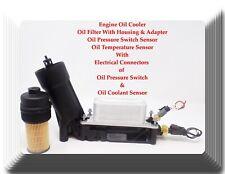 Oil Cooler+Oil Filter W/Housing+Oil Pressure & Temperature Sensors W/Connectors