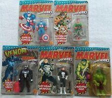 5 Toy Biz Marvel Super Heroes Action Figures Capt America, Hulk & More NEW