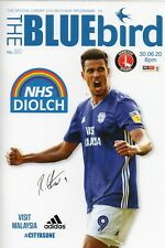 CARDIFF CITY FC V CHARLTON ATHLETIC FC OFFICIAL MATCH PROGRAMME 30/06/20