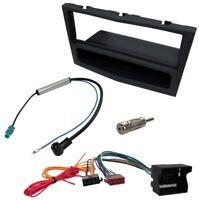 Kit Adaptateur Autoradio Cadre noir 1 DIN Câble Faisceaux compatible avec Opel