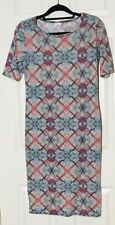 luluroe dress Strait Stretch Dress Blue/pink Size Medium