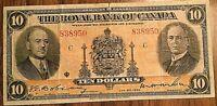 1935 ROYAL BANK OF CANADA 10 DOLLARS BANK NOTE