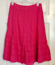 BNWT Per Una M&S Marks & Spencer Pink Linen Panelled A Line Skirt UK 14 Holiday