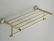 Bathroom Accessories Wall Mounted Golden Brass Towel Rack Holder 8ba256