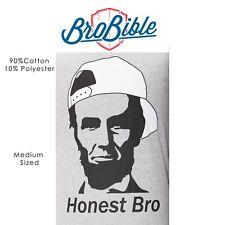 "BroBible Brand Medium Grey ""Honest Bro"" Abraham Lincoln Tee Shirt"