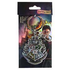 Harry Potter New * Hogwarts School * Crest Pewter Key Chain Key Ring Keychain