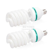 2x 65W 5500K Photography Studio Daylight Bulbs Lighting Compact Fluorescent Lamp