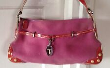Tod's Red Leather & Pink Suede Bag Gorgeous!