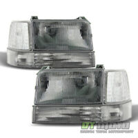 1992-1996 Ford Bronco F150 F250 Replacement Headlights Corner Light Bumper Lamps