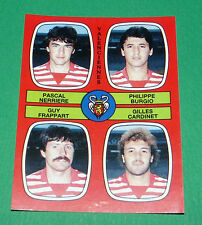 N°382 NERRIERE BURGIO FRAPPART VALENCIENNES D2 PANINI FOOTBALL 87 1986-1987