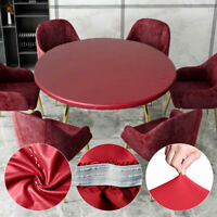 1PC Waterproof Round Tablecloth Oil-Proof Wipe Clean PVC Fabric Table Cover
