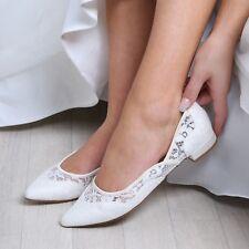 OVP Brautschuhe (Perfect Bridal) Primrose Ballerinas, Ivory Spitze, Gr. 36