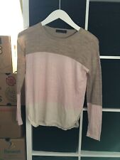 Marks and Spencer Size 12 Pure Merino Wool Neopolitan Long Sleeve Jumper (J7)