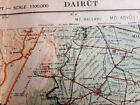 ARCHEOLOGICAL1936 OLD MAP DIRUT UPPER EGYPT BY SURVEY&ANTIQUES SERVICE AUTHORITY