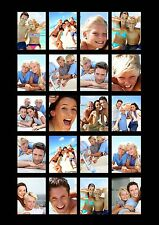 Personalised 20 Photos Booth Strip Wall Art Collage Passport Effect A3 Size