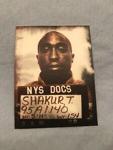 TUPAC SHAKUR VINYL Decal/Sticker Custom 1995 NYC MUGSHOT 🔥2PAC🔥