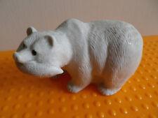 AARKTIK SCULPTURES Hand Made in Canada Bär Eisbär mit Fisch H 5 cm Gew. 200 g