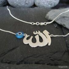 """Symbolkette """"Allah"""" mit Glücksauge, Nazar, 925er Silber, Gott in Arabisch, الله"""
